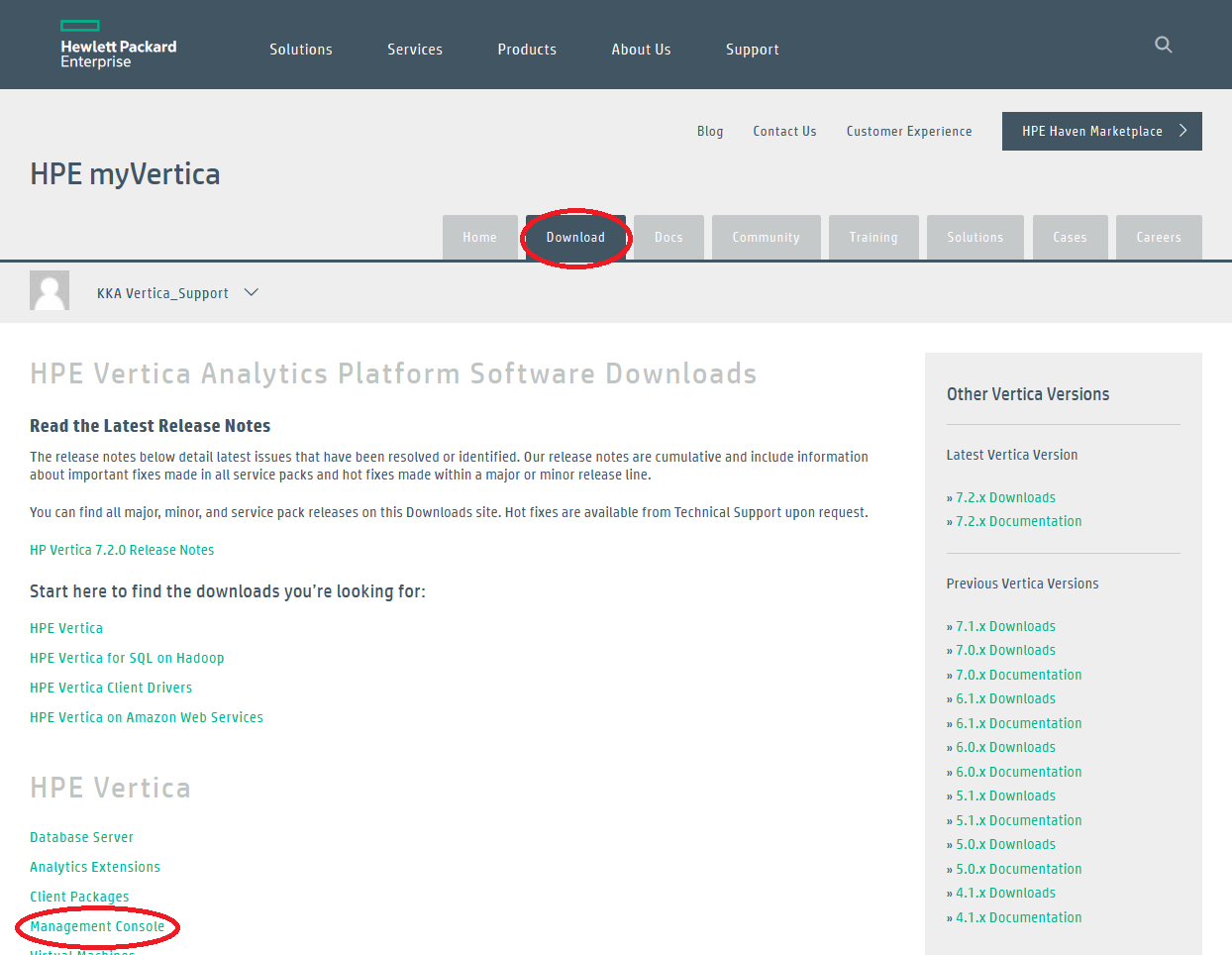 HPE Vertica Analytics Platform Software Downloads  MyVertica_2015-11-09_10-14-52